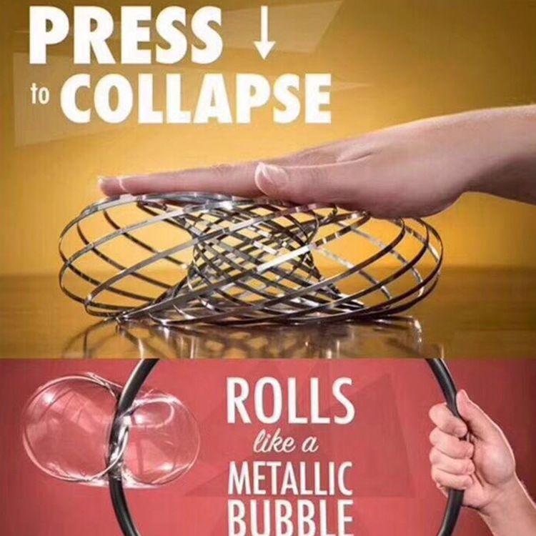 流体手环魔术梦幻手环道具减压锻炼神器不锈钢铁环创意玩具小礼物