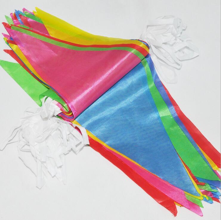 厂家直销小串旗彩旗定做批发开业婚庆布置五色三角串旗大量警示旗
