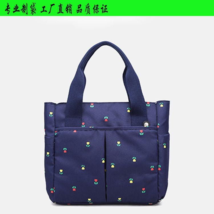 工厂定制广东手提妈咪包 尼龙手提妈咪包外出旅行母婴用品袋收纳袋购物包大容量