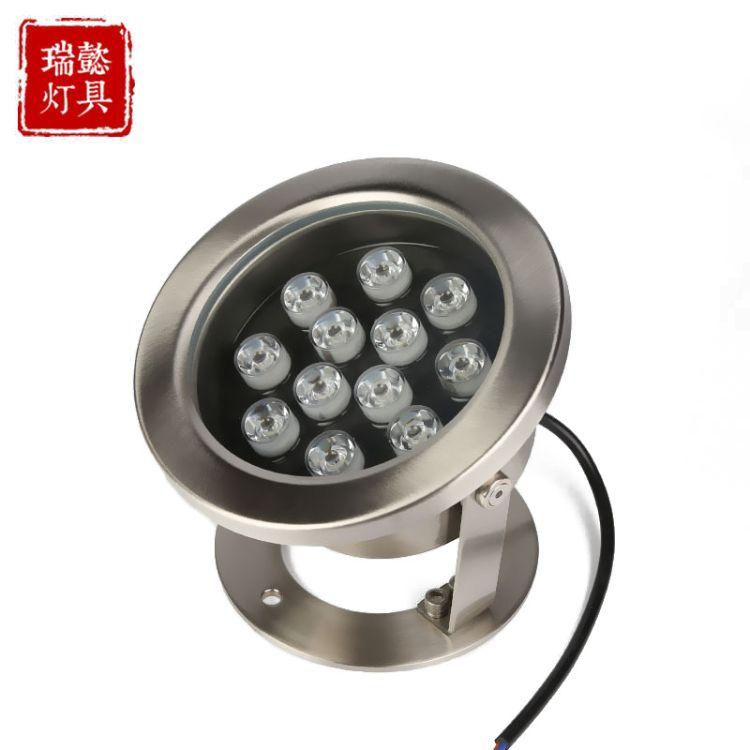 新款LED水底灯 9W12W15W水下 七彩灯水户外泳池喷泉灯不锈钢 水底