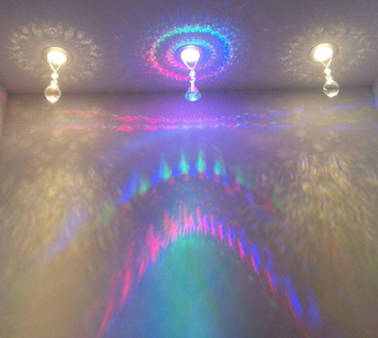 彩色背景墙LED灯3瓦开孔5 -5.5-6-6.5-7.5CM过道顶灯具