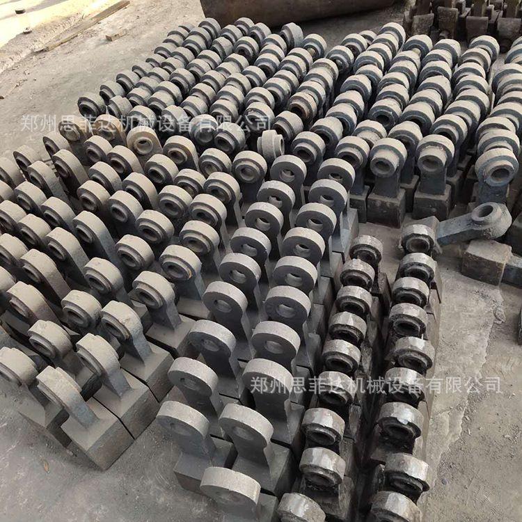 供应锤式破碎机衬板锻打锻造锤头配件高韧性锤式破碎机锰钢锤头