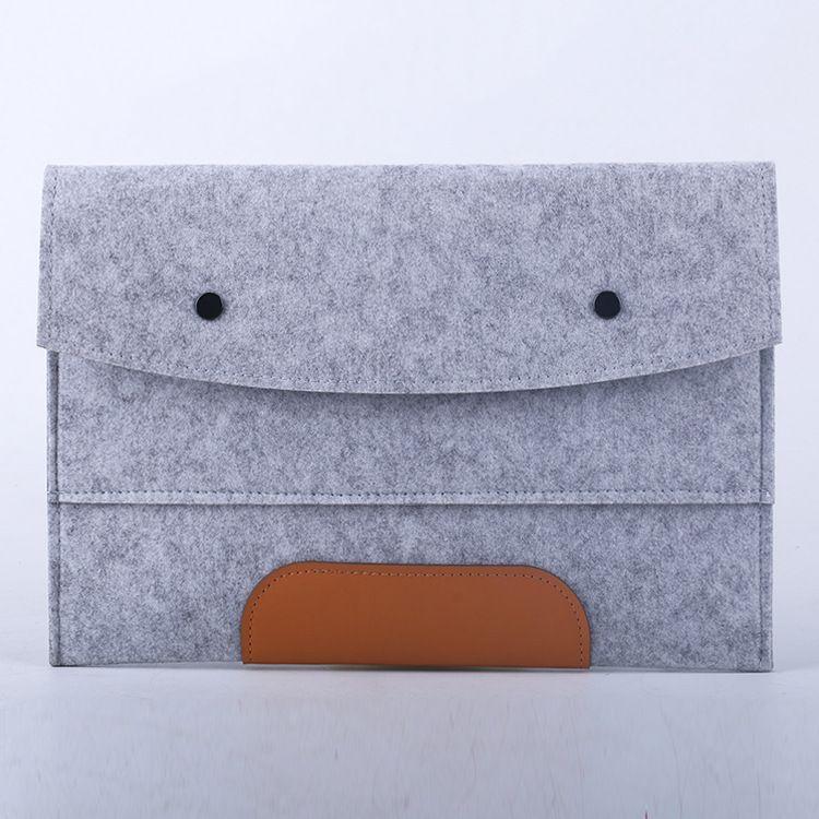 定做新款毛毡包翻盖式ipad笔记本电脑毛毡包手拿翻盖式男女毛毡包
