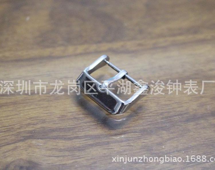 手表钢带真皮带扣AAA级不锈钢表扣针扣10mm-24mm表带配件 1315S