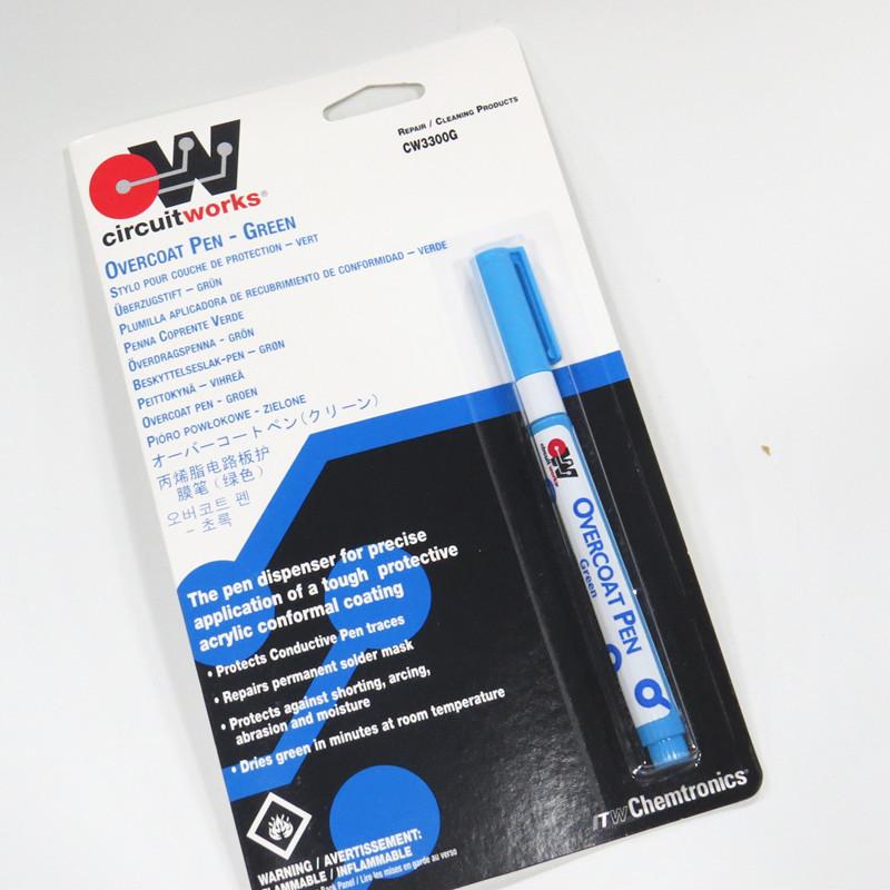 美国ITW CW3300G 绿油笔 涂层笔 电路板保护漆 PCB补点 绿色 环保