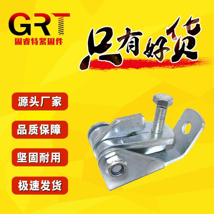 抗震底座AB型抗震连接座电镀锌加厚可调式机械设备支架配件可定制