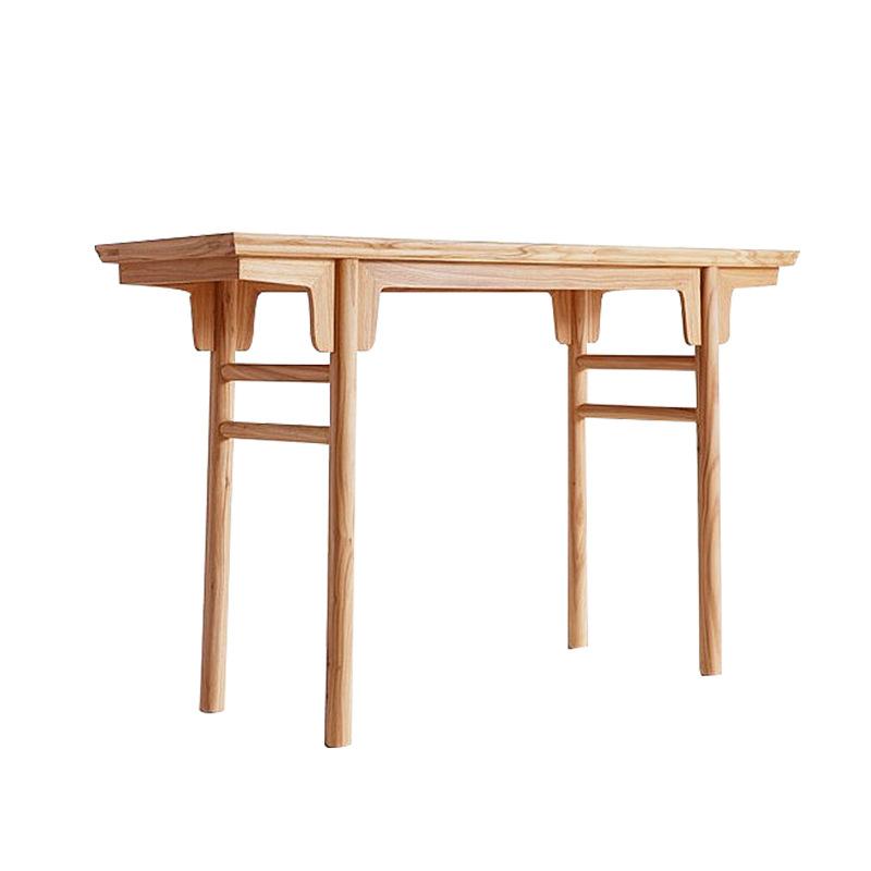 榆木案几简约现代新中式全实木家具仿古条案平头案供桌条几玄关桌
