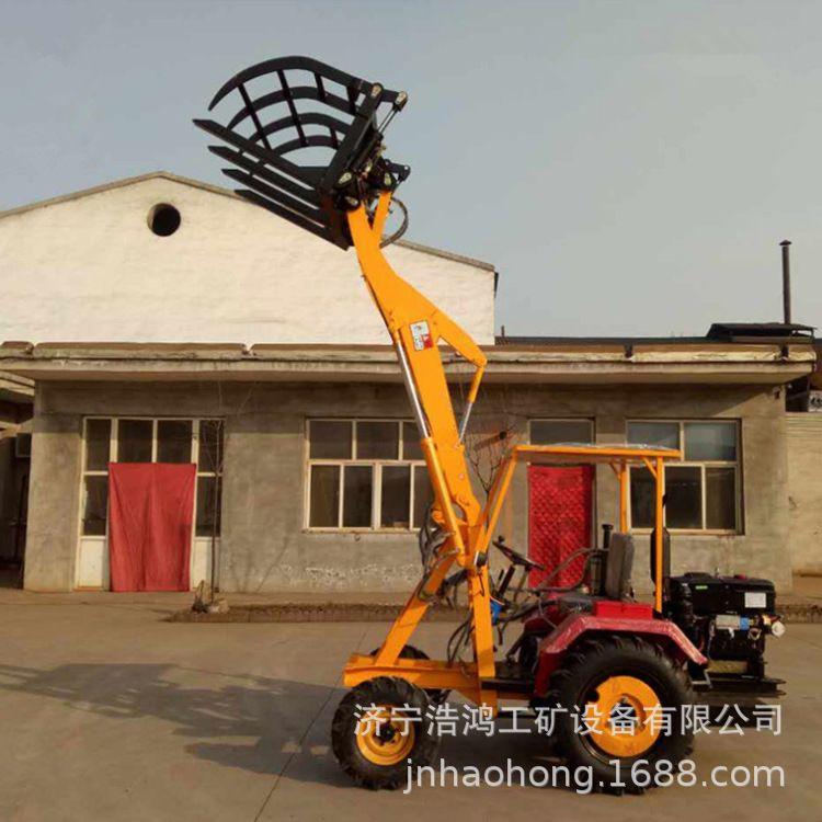 小型铲车装载机 前卸式农用装载机小型抓木机 液压轮式铲车