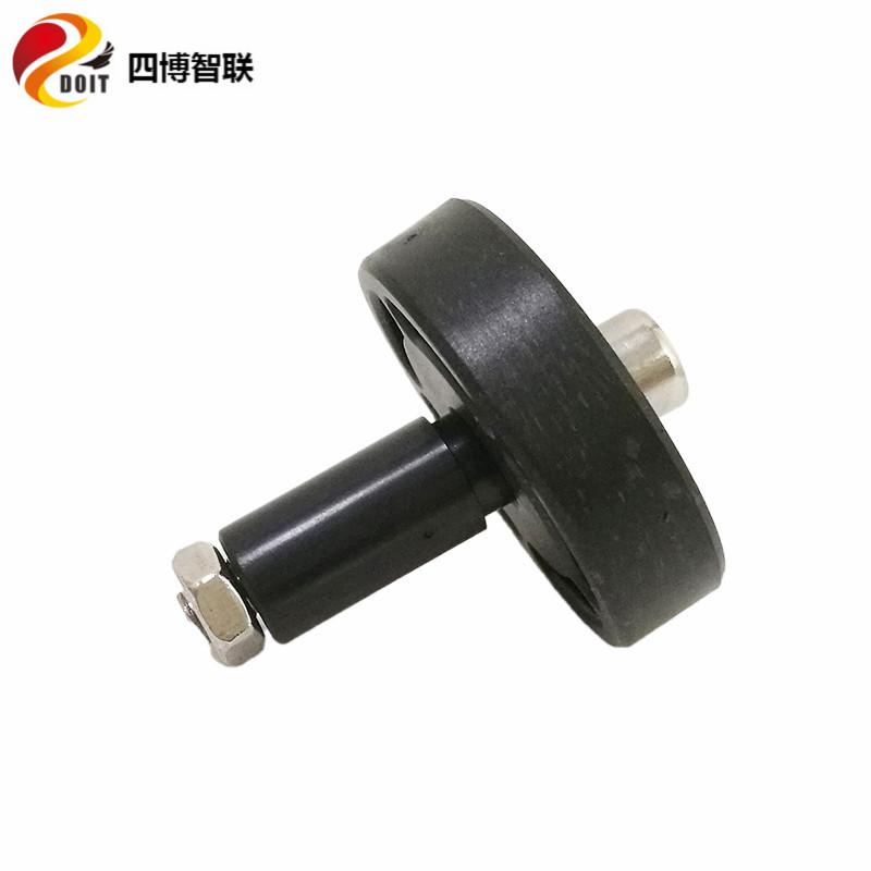 橡胶承重轮 黑色辅助轮 从动轮 坦克底盘 智能小车配件 塑胶轮子