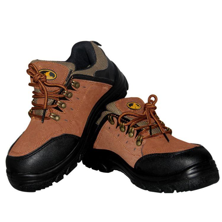 防砸劳保鞋劲虎505耐酸碱防油耐磨防滑钢头透气舒适工地焊接工厂劳保鞋