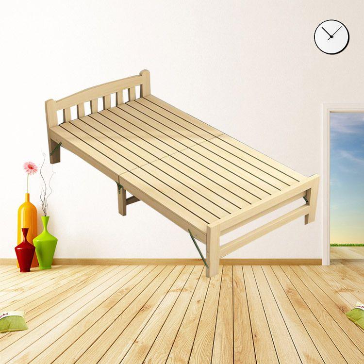 现代简约单双人床  折叠儿童成人单人床  批发原木卧室单双人床