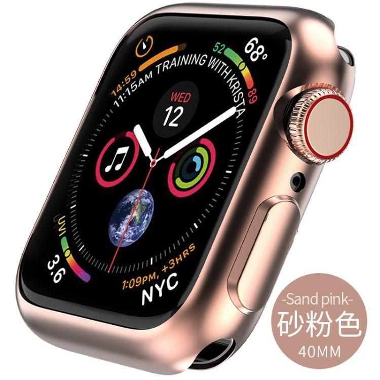 2018新款适用苹果手表4代保护壳适用苹果手表4代电镀保护壳