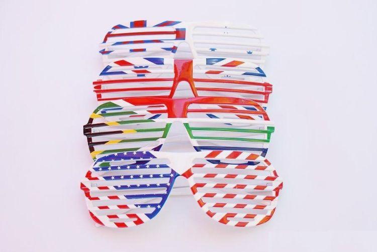 跨境专供百叶窗眼镜节日party舞会眼镜个性百搭框架眼镜厂家订制