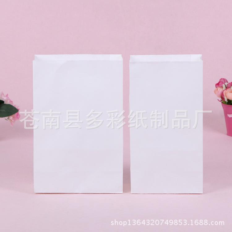 厂家直销白牛皮纸方底食品纸袋外卖餐饮打包袋淋膜防油纸袋定制