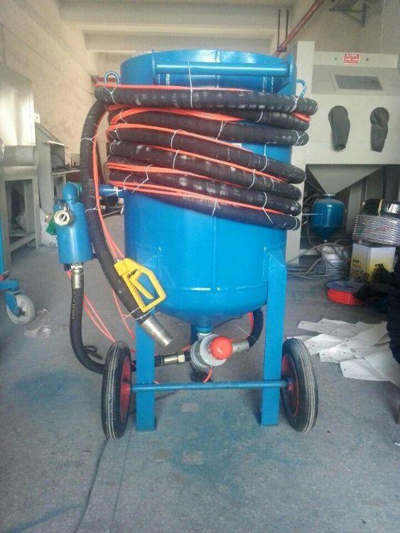 加壓干濕氣控噴砂罐 油管除銹清理艾航品牌噴砂機 進口磨料閥
