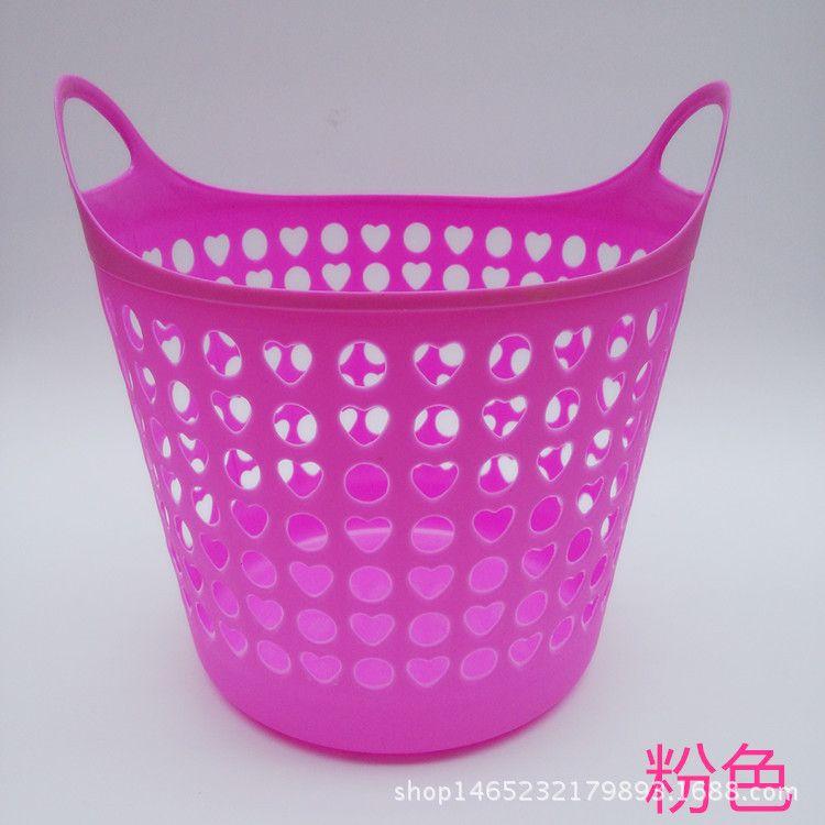 厂家直销大号塑料镂空脏衣篮多用收纳篮收纳筐家用杂物筐置物篮