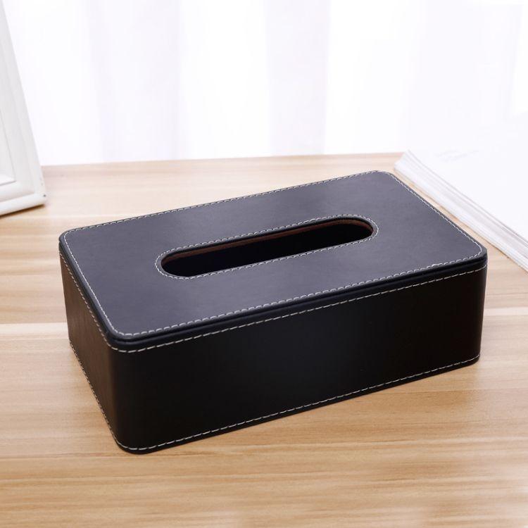 金森出品/家居日用新款皮革纸巾盒客厅卧室简约纸抽盒收纳盒定做
