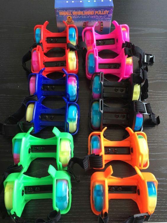 盛世滑行厂家批发爆款儿童玩具风火轮暴走鞋发光流星轮pu彩轮带灯