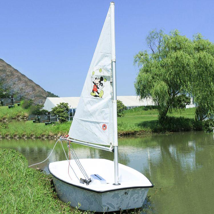 OP(乐观)级帆船无动力玻璃缸赛事用船 儿童青少年水上培训 帆船