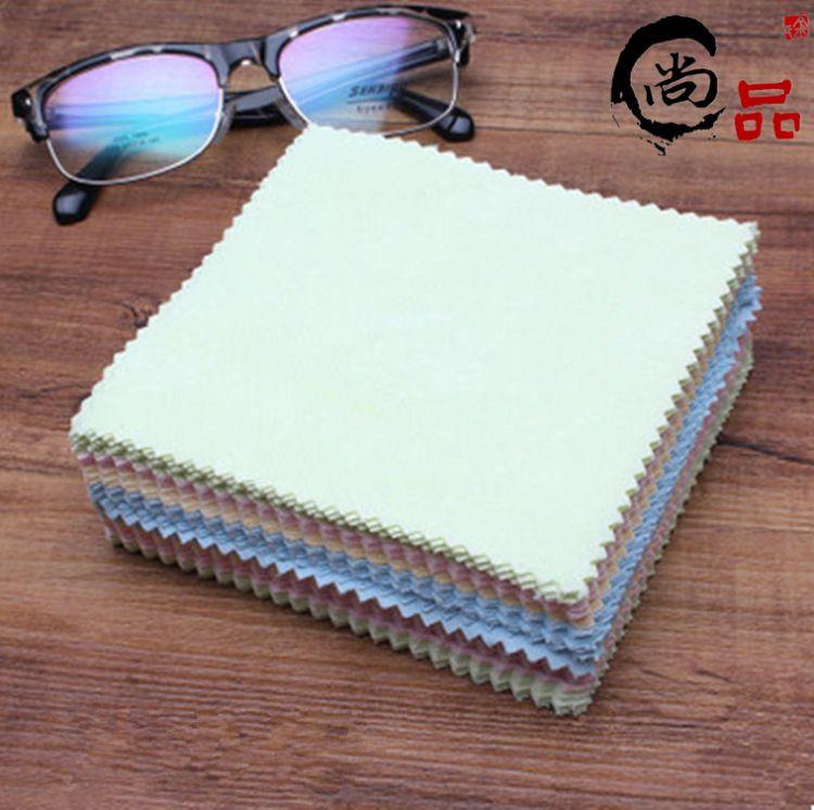 特价批发彩色眼镜布 13*13超细纤维太阳眼镜布擦拭清洁布 蝴蝶布
