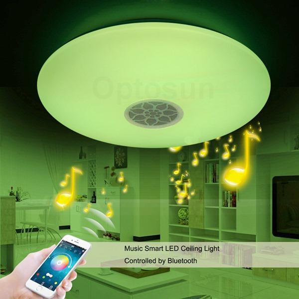 供应 蓝牙音乐LED吸顶灯智能手机APP 情景卧室 客厅灯具