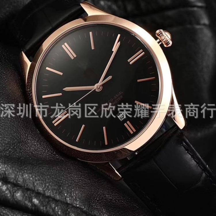 2018 正品 新款真皮皮带 钢带 进口机械机芯 新款男士手表