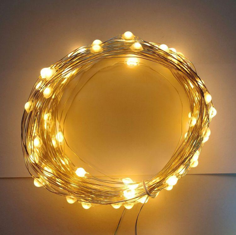 工厂直供LED高亮大灯珠铜线灯串