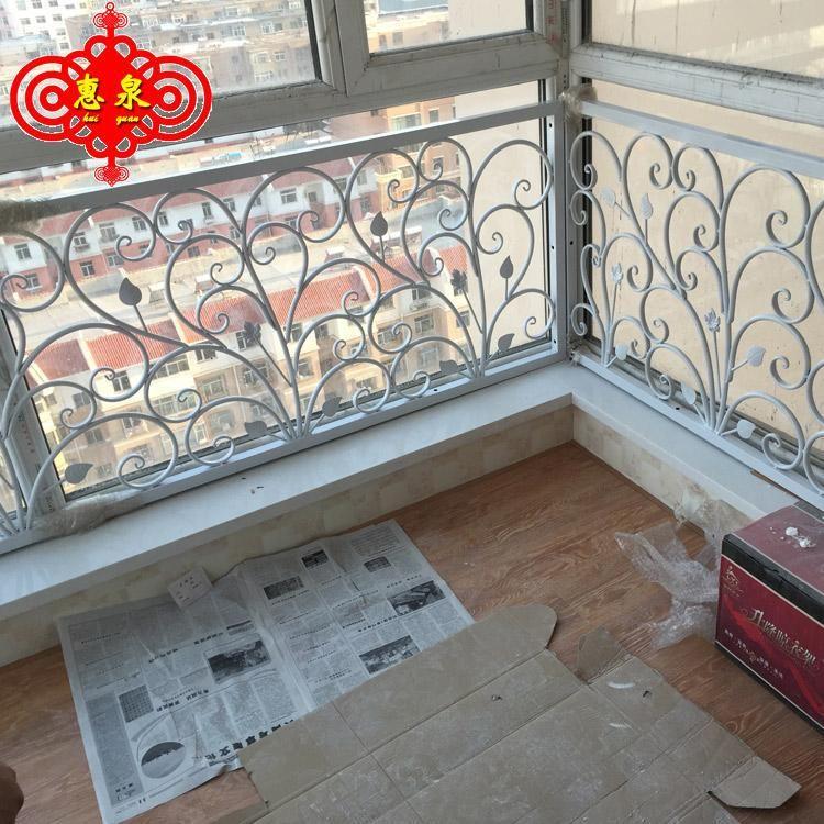 新款铁艺楼梯扶手 飘窗护栏 阁楼护栏 走廊栏杆 阳台围栏 可定做