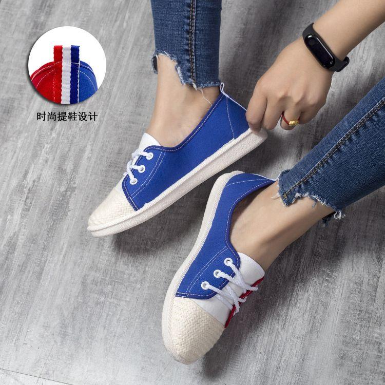 夏季女鞋帆布鞋女士休闲潮鞋韩版板鞋百搭透气潮流帆布鞋子女潮鞋