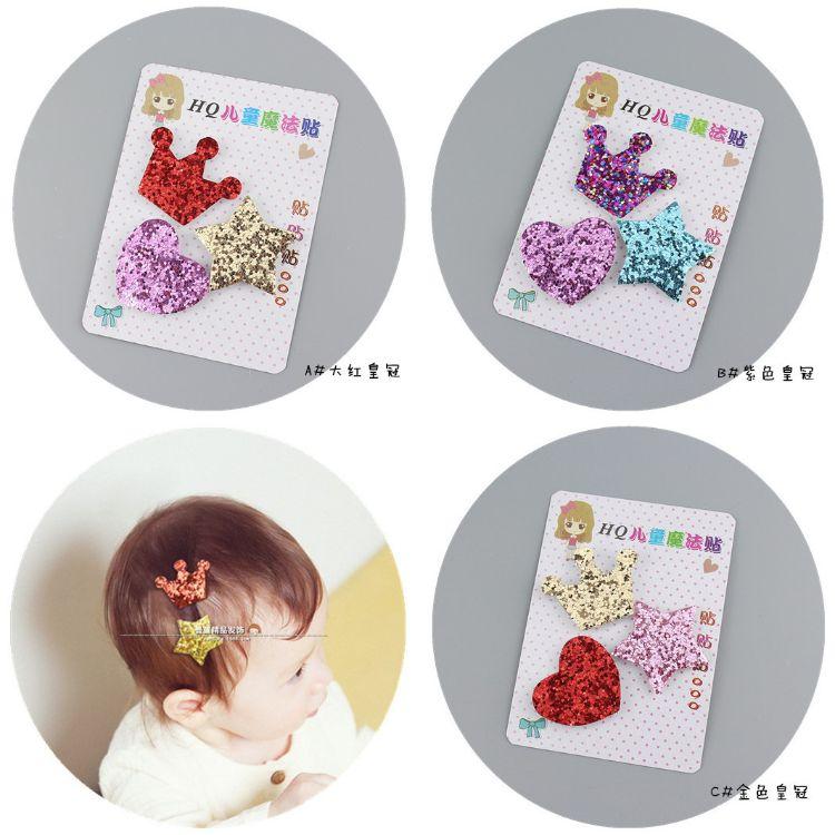 S-180一套3个价*可爱韩版套装刘海贴 宝宝发饰 来样定制