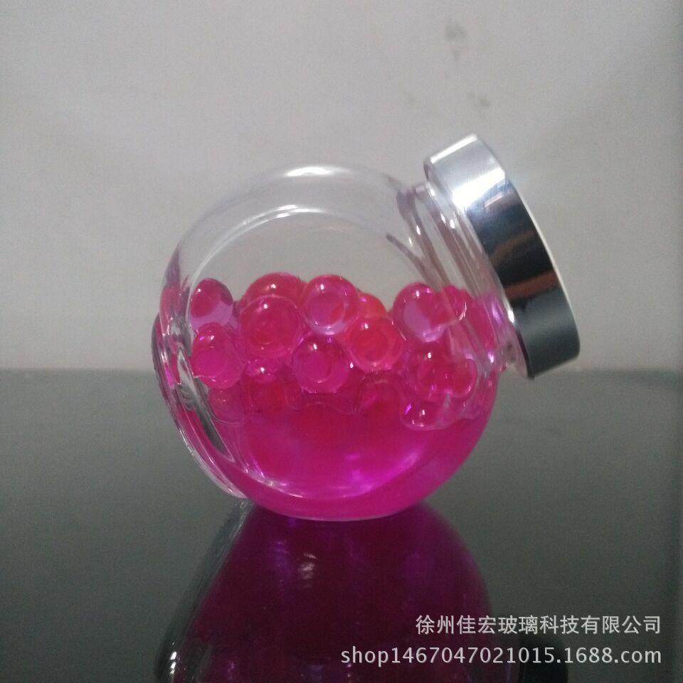 供应扁鼓瓶密封透明玻璃储物罐 家用无铅玻璃储物罐糖果罐可定制