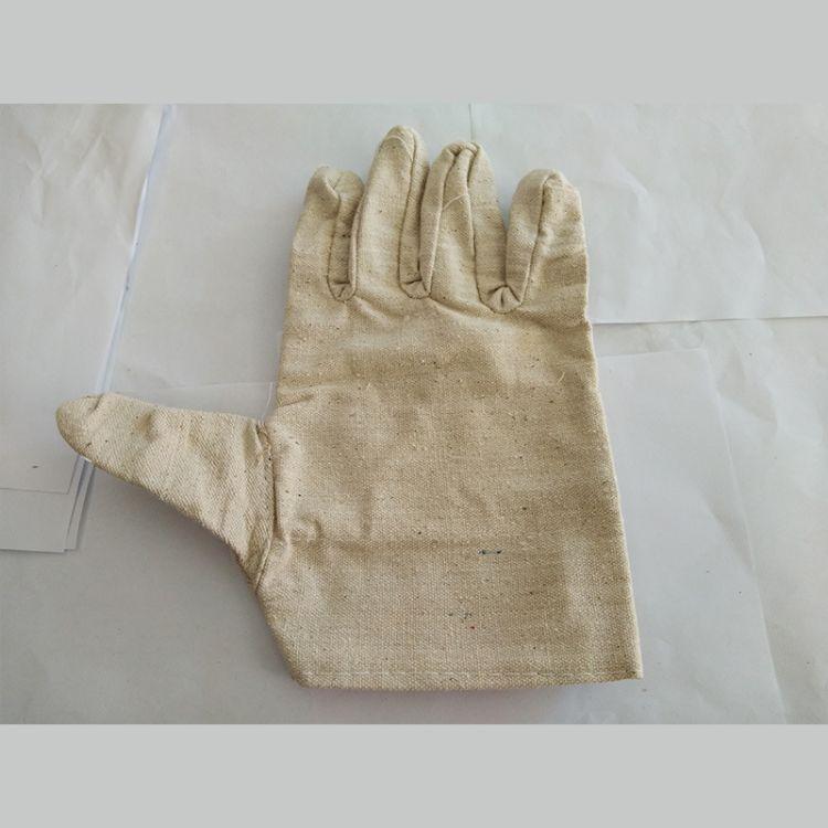 全棉帆布双层加厚耐磨透气柔软透气全棉掌背舒适防机械风险