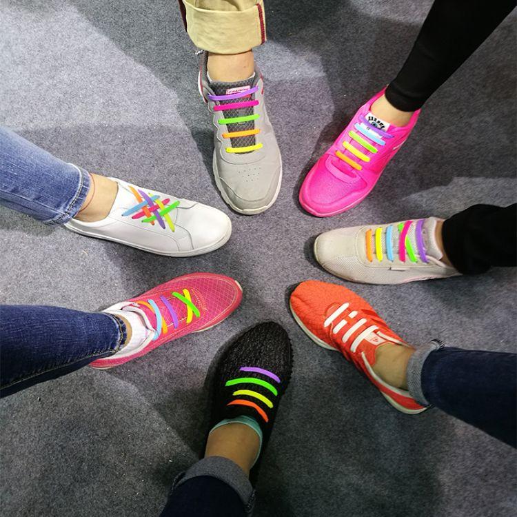 创意硅胶时尚酷炫懒人鞋带 批发懒人硅胶鞋带 厂家直销 MOQ定制