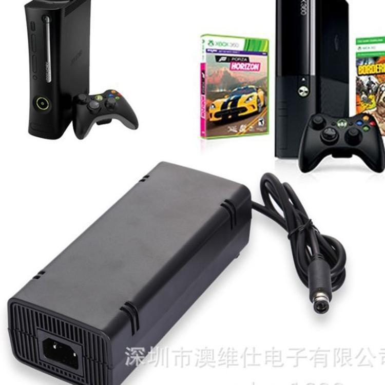 厂家直销 微软 Xbox360 SLIM 薄机火牛电源适配器 E版 美规充电器