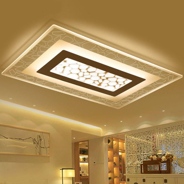 客厅灯长方形大气现代简约led吸顶灯超薄卧室灯书房灯餐厅大厅灯