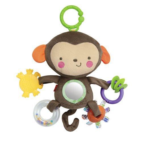 来图打样可加LOGO婴儿动物可爱猴子造型宝宝推车挂件