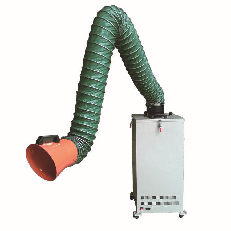 国威直销单臂移动式焊烟除尘器 车间烟尘焊烟净化器生产厂家
