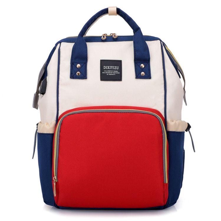 厂家批发户外休闲大容量妈咪包可装奶瓶多功能USB双肩背包