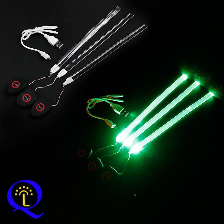 供应led发光腰包灯条 USB锂电池充电闪光运动腰带软灯条 电子加工
