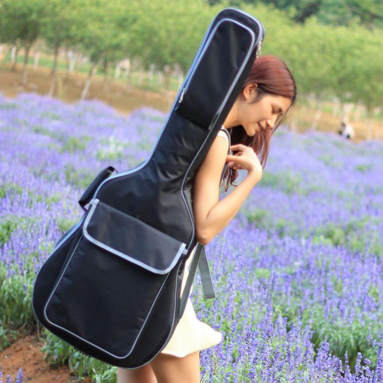 新品K2款加棉民谣吉他包41寸加厚10mm棉双肩背包厂家直销定做印字