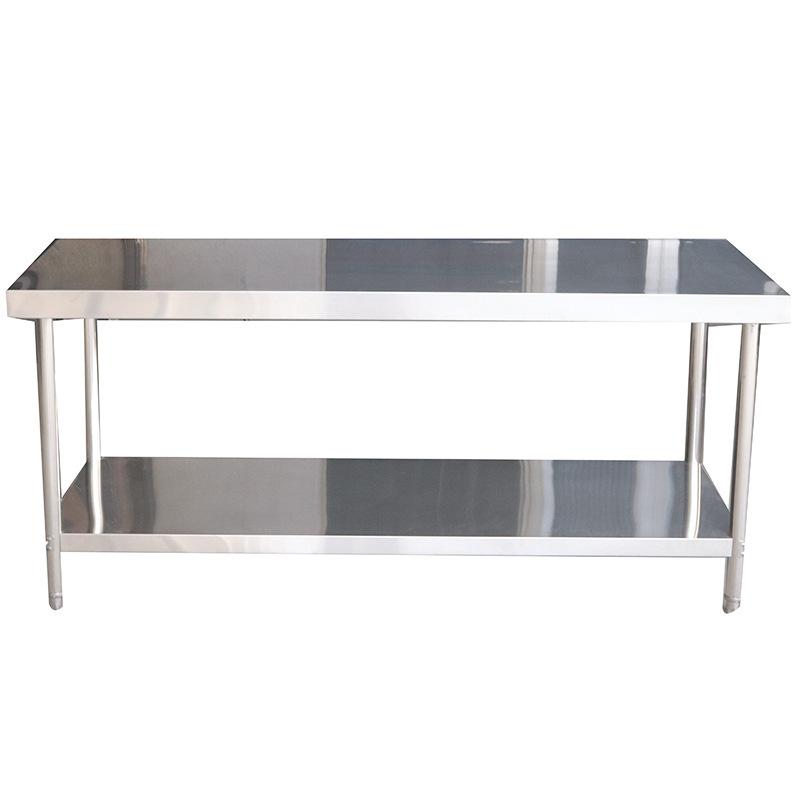 不锈钢桌面工作台 304不锈钢案板工作台不锈钢工作台桌子双层定做