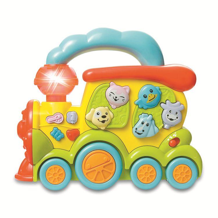 供应SM272674动物火车 灯光音乐儿童玩具电动车 益智卡通玩具车