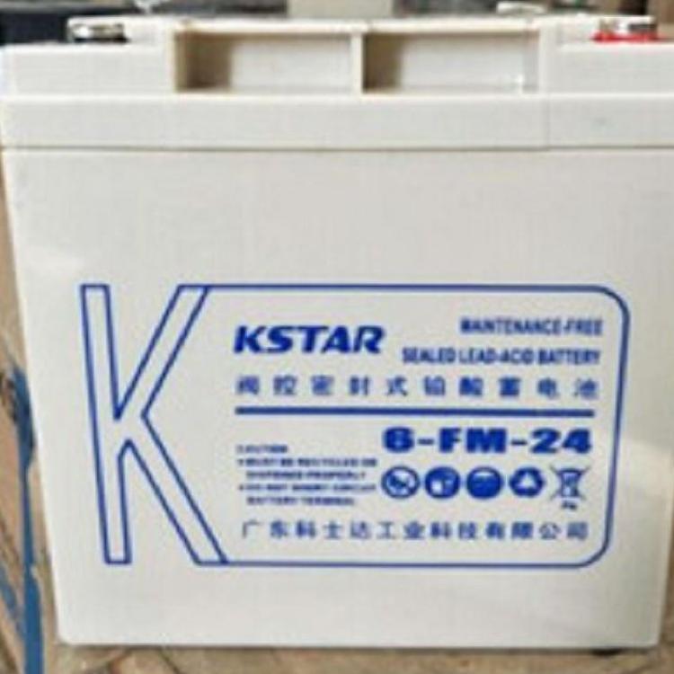 科士達免維護鉛酸電池6-FM-24AH UPS不間斷電源12V24AH全新