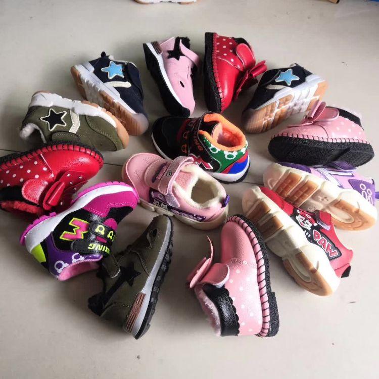 杂款童鞋 温州库存处理大中小儿童棉鞋批发 夜市地摊货源新鲜货