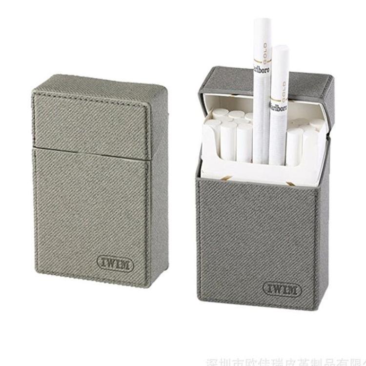 厂家订制 创意超薄皮质烟盒 高档出口烟盒包装盒DIY设计