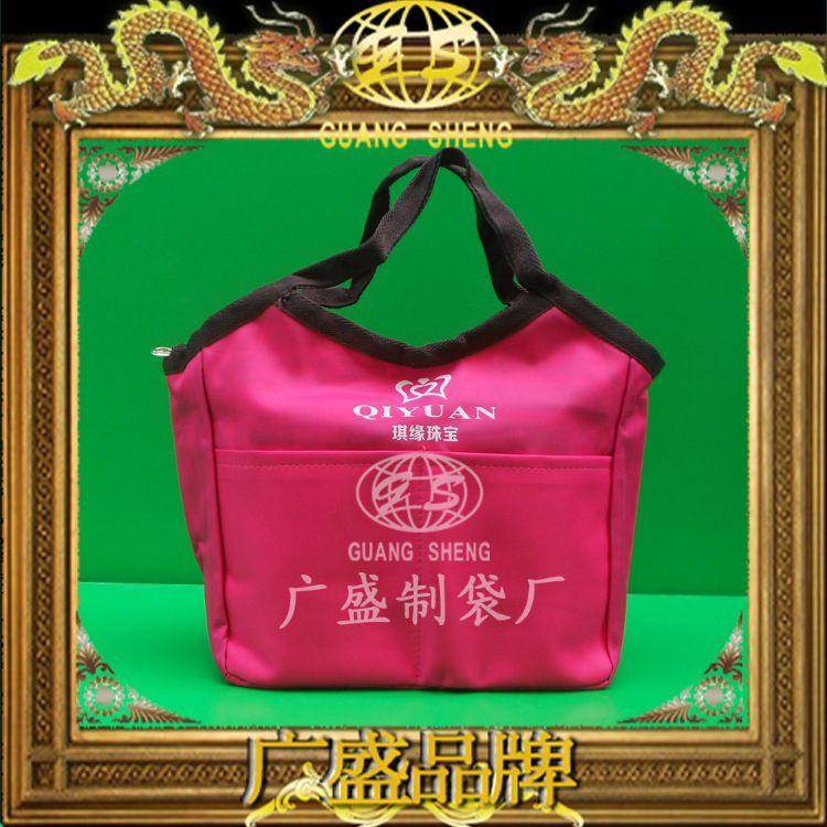 订做 环保创意手提可折叠购物色丁包装布袋 珠宝首饰包装束口袋