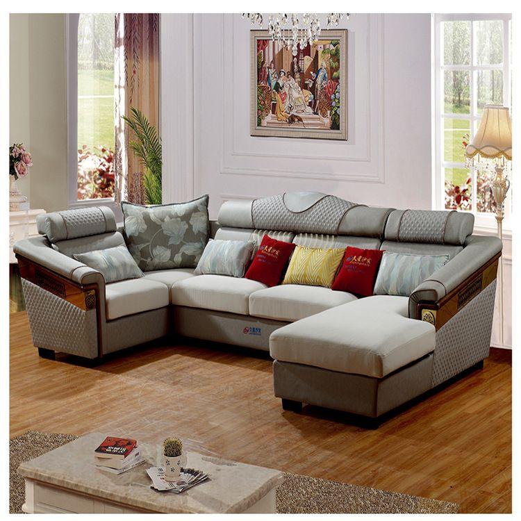 实木沙发  科技布 中式客厅家具 贵妃位 支持定制