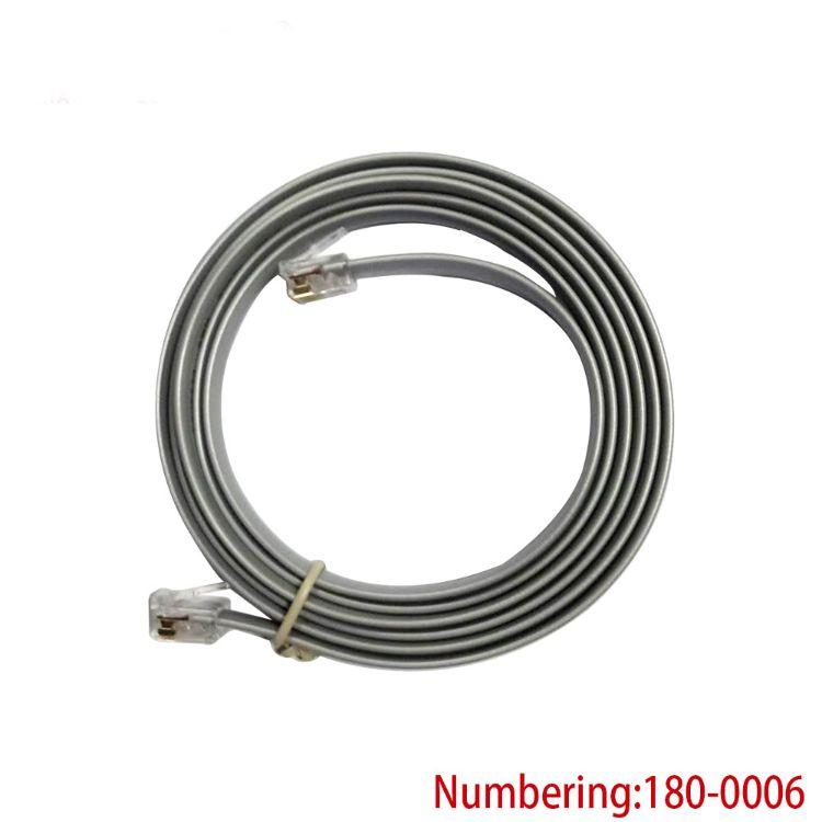 厂家直销 银灰色RJ45 8P8C 扁平电话线 短体水晶体网络连接线