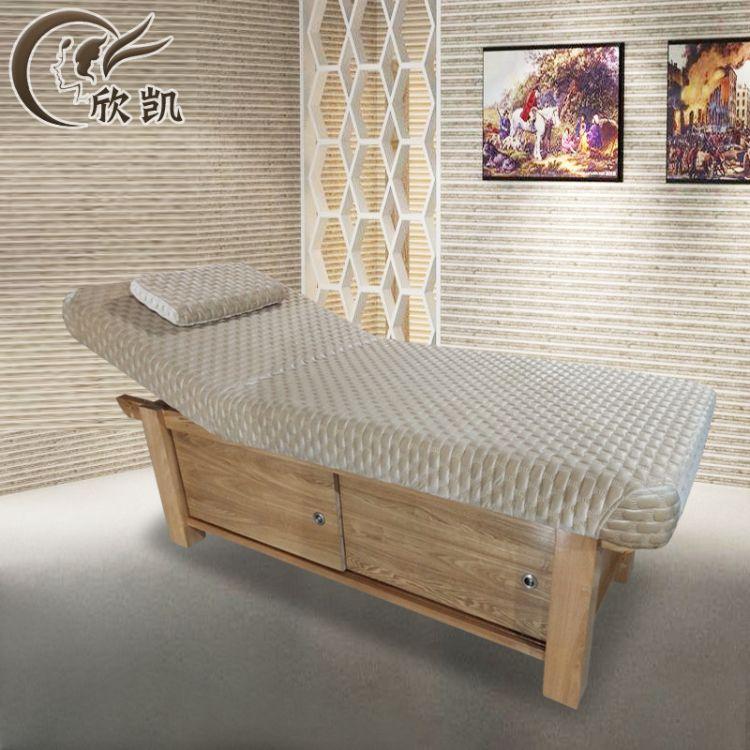 高档实木美容床多功能理疗床美体按摩床带洞美容院专用推拿床批发