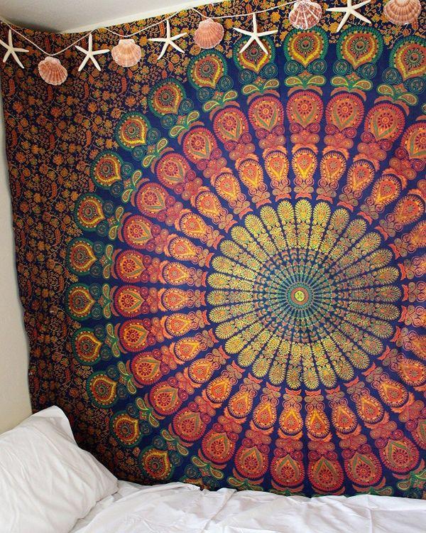 亚马逊ebay速卖通新款 数码印花客厅挂毯壁挂壁饰 卧室挂布